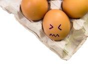 Eieren met gezichten Royalty-vrije Stock Foto