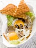 Eieren met truffel royalty-vrije stock foto's