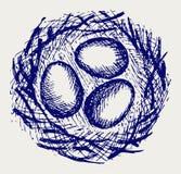 Eieren in nest vector illustratie