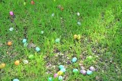 Eieren op het gras royalty-vrije stock foto's