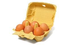 Eieren op wit Royalty-vrije Stock Foto's