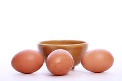 Eieren op witte achtergrond Stock Afbeelding