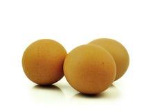 Eieren op witte achtergrond Royalty-vrije Stock Foto