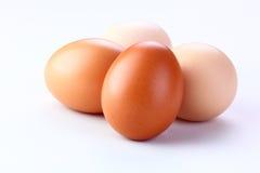 Eieren op witte achtergrond Stock Foto's
