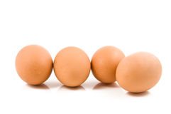 Eieren op witte achtergrond Royalty-vrije Stock Afbeeldingen
