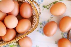 Eieren oude uitstekende stijl Stock Foto's
