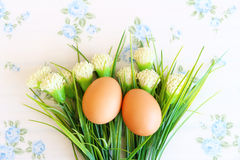 Eieren oude uitstekende stijl Royalty-vrije Stock Afbeeldingen