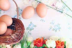 Eieren oude uitstekende stijl Stock Afbeeldingen