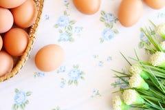 Eieren oude uitstekende stijl Royalty-vrije Stock Afbeelding