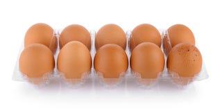 Eieren in pak Royalty-vrije Stock Fotografie