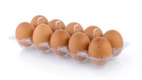 Eieren in pak stock foto's