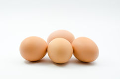 Eieren, Vier eieren Stock Fotografie