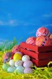 Eieren voor de dag van Pasen stock foto's