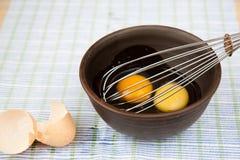 Eieren voor omelet Stock Afbeelding