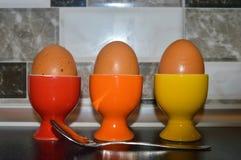 Eieren voor ontbijt Stock Afbeelding