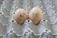 2 eierenbel die geschokt kijkt Royalty-vrije Stock Afbeelding