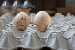 2 eierenbel die geschokt kijkt Stock Fotografie