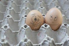 2 eierenbel die geschokt kijkt Royalty-vrije Stock Afbeeldingen