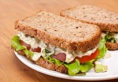 Eiersalat-Sandwiche Stockfotos