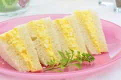 Eiersalatsandwich Stockbild