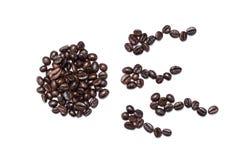 Eierstok en spermatogenese van Bruine geïsoleerde die koffiebonen wordt gemaakt Royalty-vrije Stock Fotografie
