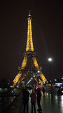Eifel塔在晚上 库存照片