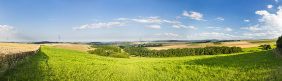 Eifel Summer Landscape Panorama, Germany Stock Image