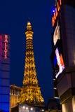 Eifel tornkopia i den Las Vegas remsan, USA Fotografering för Bildbyråer