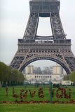 Eifel tower I love you Stock Images