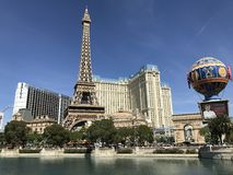 Eifel tower at Las Vegas The Strip. LasVegas Eifel tower with blue sky Royalty Free Stock Photography
