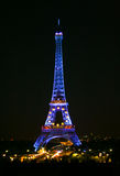 Eifel tower  in the night Royalty Free Stock Photos