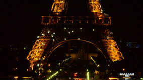 Eifel tower, night show, Paris Royalty Free Stock Images