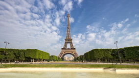 Eifel tower Paris. Park view in the Eiffel Tower in Paris Royalty Free Stock Photo