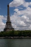 Eifel tower river view Royalty Free Stock Images