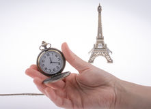 Eifel Tower and time Royalty Free Stock Image