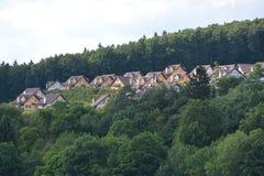 Eifel w Niemcy z domami Fotografia Stock