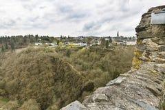 Eifel wioska Manderscheid, Niemcy Zdjęcia Stock