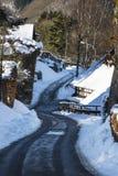 Eifel wioska Widdau W zimie, Niemcy Zdjęcie Stock