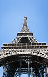 Eifelen står hög i Paris. Frankrike. Arkivfoto