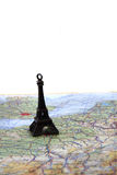 Eifell tower map Royalty Free Stock Images