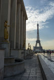 Eifell Tower Palais de Chaillot Stock Image