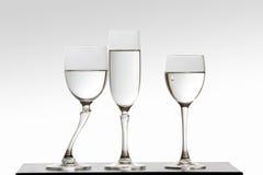 Eifersüchtiges Glas und Riss Stockfotografie