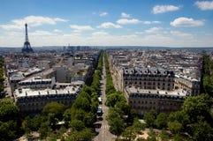 Eiffel à W heu image libre de droits