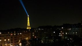 Eiffel к ноча стоковые изображения