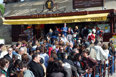 eiffel открыл заново башню забастовки Стоковое Фото