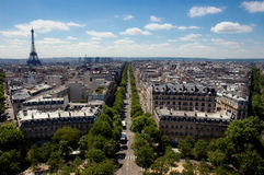 Eiffel aan W ER Royalty-vrije Stock Afbeelding