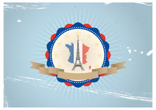 Eiffel badge Stock Photography