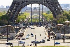 Eiffel-Basis Paris Stockfotografie