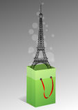 Eiffel-Beutel Stockfoto