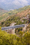 Eiffel bridge. Historical Bridge over narrow glen in Corsica Royalty Free Stock Photos